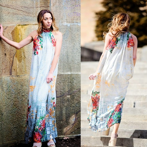 20083b476fa3 Anthropologie Dresses   Nwt Bhanuni Marilla Halter Maxi   Poshmark